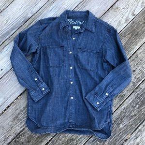 EUC Madewell Denim Like Shirt Size Small Oversized
